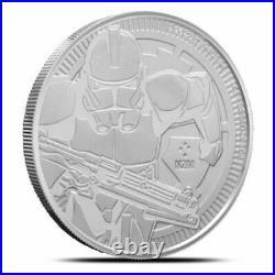 (10) 2019 Niue Star Wars Clone Trooper 1 oz Silver Coin IN COIN CAPSULE
