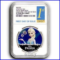 10 Coins 2016 Frozen Disney Princess NGC PF70 FDOI NIUE 1 oz Proof Silver Coin
