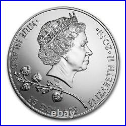10 OZ CZECH LION Silver coin First year issue! 2018 Niue OGP