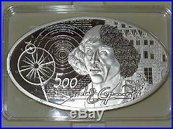 16oz SILVER! $50 Niue 2015, Copernicus, ONLY 99 MADE! 500g, 1/2 KILO! Swarovski