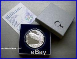 1 Dollar ZEPPELIN HINDENBURG CRASH Niue 2017 1OZ PROOF Silver Coin LTD 400 pcs