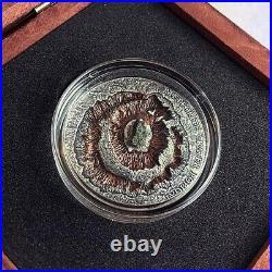 $1 Niue Islands 2016 POPIGAI CRATER Meteorite 1 oz Silver Coin Russia Antique
