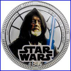 2011 Niue Silvered $1 Star Wars Obi-Wan Kenobi PF70 UC NGC Coin RARE