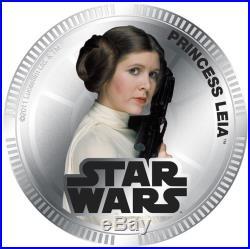 2011 Niue Silvered $1 Star Wars Princess Leia PF70 UC NGC Coin RARE