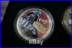2011 Niue Star Wars Darth Vader 4-Coin Set 1 oz Silver Coins Ungraded Proof