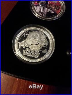 2011 Star Wars Proof Silver 4-Coin Set Niue Darth Vader
