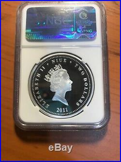 2011 Star Wars R2-d2 & C3po 1 Oz. Silver Coin Ngc Pf70 Ultra Cameo