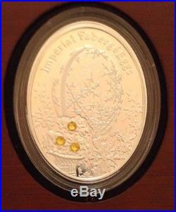 2012 2013 Niue Island New Zeland Proof Set 9 Silver Coins 1$ Faberge Eggs COA
