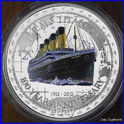 2012 NIUE $2 1oz. 999 Silver Coin -100 th Anniversary RMS TITANIC