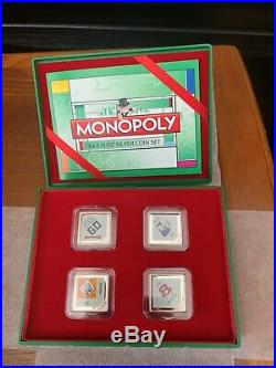 2013 Niue New Zealand Mint 4 silver coin Monopoly set, Monopoly House Display
