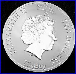 2014 5 Oz Silver New Zealand Mint $10 Niue Hawksbill Turtle