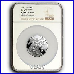 2014 NGC PF70 NIUE 75 years of Batman 2 oz Proof Silver Collectible Coin