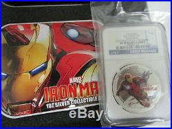 2014 NIUE $2 Marvel Avengers 1oz PURE SILVER 4-COIN SET Proof PF 70