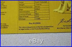 2014 Niue Disney NGC PF70U/C-E/R $2 Silver Proof Set Matching COA#s-Super Rare