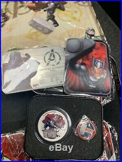 2014 Niue Marvel The Avengers $2.999 Silver Proof 4 Coin Set Box NIB