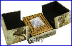 2014 Niue Proof Silver Coin 3 Oz. Pyramid a Masterpiece of Mint Art. NEW