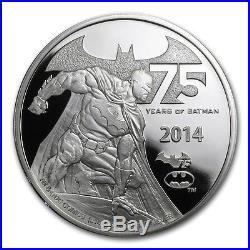 2014 Niue Silver $5 Batman 75th Anniversary 2 oz PF70 UC NGC Coin RARE