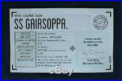 2015 10oz Silver Bar SS Gairsoppa Salvage in Case with COA (AC4/9)