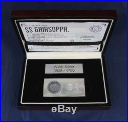 2015 10oz Silver Bar SS Gairsoppa Salvage in Case with COA & Book (AA5/44)