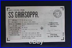 2015 10oz Silver Bar SS Gairsoppa Salvage in Case with COA & Book (L6/11)