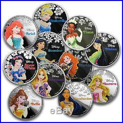 2015-16 Niue 11-Coin Silver $2 Disney Princess Set SKU #102332