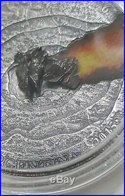 2015 1 Oz Silver $1 NIUE METEORITE CAMPO DEL CIELO 1576 Meteor Crater Coin