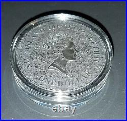 2015 1 oz silver niue lunar moon meteorite nwa 5000 coin