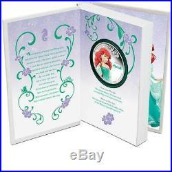 2015 $2 NIUE Disney Princess Ariel 1 oz Silver Coloured Proof Coin