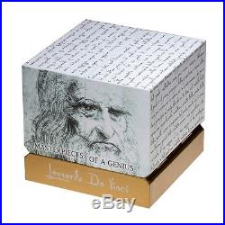 2015 Masterpieces of a Genius Leonardo Da Vinci SILVER CUBE Niue $25 6.5 oz RARE