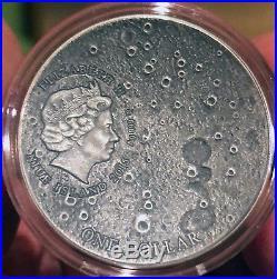 2015 Moon NWA 8609 Meteorite Coin Solar System Series 1oz Box & COA