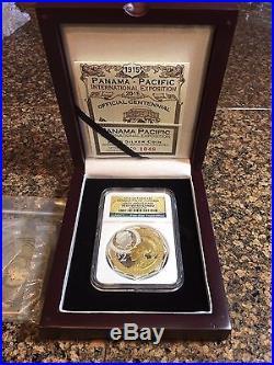 2015 Niue $2 2 Oz Gilt 999 Silver Panama-Pacific Octagonal Coin NGC PF69 UC