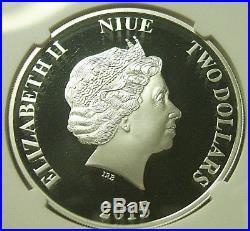 2015 Niue $2 Disney Characters SCROOGE McDUCK 1 Oz. Silver NGC PF70 + OGP