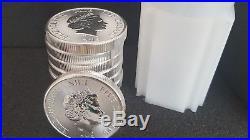 2015 Niue 2 oz silver $5 Hawksbill Turtle (roll of 10) BU