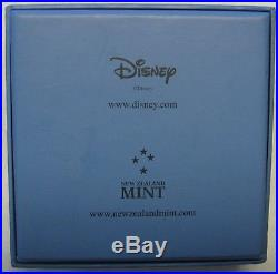2015 Niue Rare Walt Disney Scrooge McDuck. 999 Silver Coin in Wooden Display Box