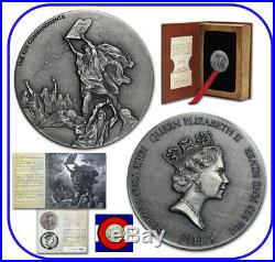 2015 Niue Ten Commandments 2 oz Silver Coin with COA & packaging Biblical Series