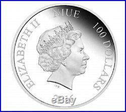2016 1 Kilo NIUE DARTH VADER STAR WARS CLASSIC SILVER COIN