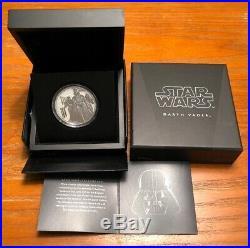 2016 $2 Niue Star Wars Classics Darth Vader 1 Oz. Silver Coin Ogp & Coa