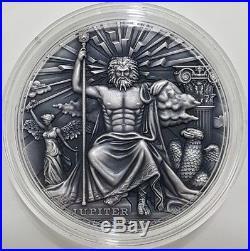 2016 2 Oz Silver JUPITER Roman Gods Coin 2$ Niue