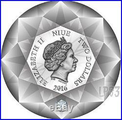 2016 DIAMOND 3D Shape Silver Coin 2$ Niue