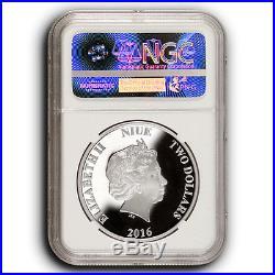 2016 NIUE $2 Mulan Disney Princesses NGC PF70 FDOI 1 oz Silver Coin