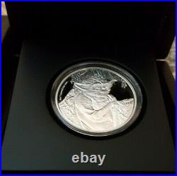 2016 NIUE STAR WARS YODA 1oz SILVER PROOF COIN IN OGP LIMITED EDITION DISNEY
