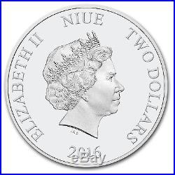 2016 Niue 1 oz Silver $2 Star Wars Princess Leia (withBox & COA)