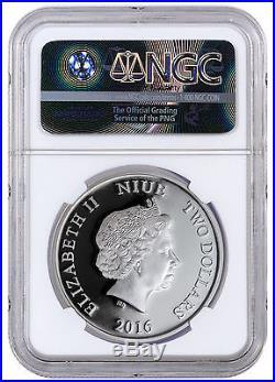 2016 Niue $2 1 oz. Silver Disney Mickey Band Concert NGC PF70 UC ER SKU42034