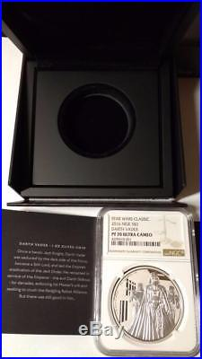 2016 Niue $2 Star Wars Darth Vader 1oz Silver Proof Coin NGC PF70 UCAM /w OGP