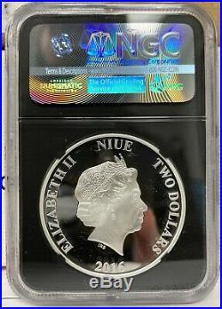 2016 Niue $2 Star Wars Yoda Proof 1 oz. 999 Silver Coin NGC PF 70 UCAM