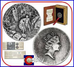 2016 Niue Adam & Eve 2 oz Silver Coin with COA & packaging - Biblical Series