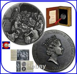 2016 Niue Birth of Jesus (Nativity) 2 oz Silver Coin with COA - Biblical Series