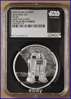 2016 Niue Island Silver $2 Star Wars R2D2 NGC PF 70 Ultra Cameo
