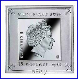 2016 Niue S$15 Temple Of Art 3 Oz Silver Pyramid Shaped Coin Louvre Palace OGP