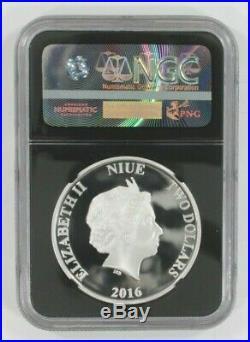 2016 Niue S$2 Star Wars Silver Princess Leia Graded by NGC as PF70 Ultra Cameo